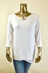CHICO-039-S-NEW-SIZE-1-M-WHITE-MESH-DETAIL-3-4-SLV-TUNIC-85