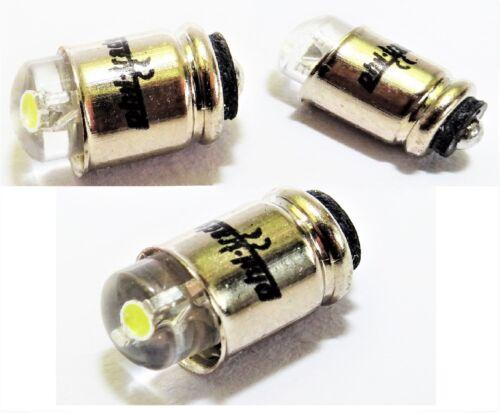 3x weiße LED Steckbirnen Märklin H0 60000 MS4 19V Glühlampen Lämpchen Birnchen