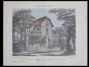 MAISONS-LAFFITTE-VILLA-AV-ALEXANDRE-TROIS-1912-PLANCHES-ARCHITECTURE-TAVERNIER