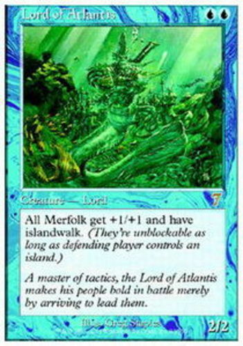 [1x] Lord of Atlantis - Foil [x1] Seventh Edition Nära Mint, German -BFG - MTG Ma