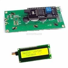 Iic/I2c/Twi/Sp​​I Display Serial Interface 1602 16X2 Yellow Character Lcd Modu C