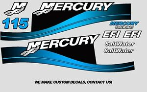 Mercury-115hp-Saltwater-Series-Outboard-Decal-Kit-1999-2004-BLUE