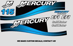 Blue Mercury 150hp Optimax Saltwater Series Outboard Decal Kit 1999-2004