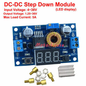 DC-DC Step Down Converter 1.25V-36V 6V 9V 12V 24V 5A Buck Power Supply Regulator