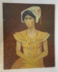 BEN-SUNLIGHT-1935-2002-Original-canvas-oil-painting-female-portrait-provenance