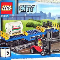 Lego Octan Fuel Tank Flat Car W Forklift Minifigure (city Cargo Train 60052 B5)