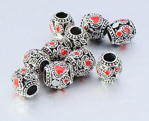 10pcs lot Silver Plated Lampwork European beads Charms fit European Bracelet