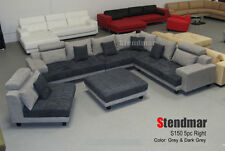 5piece modern microfiber sectional sofa set s150lne