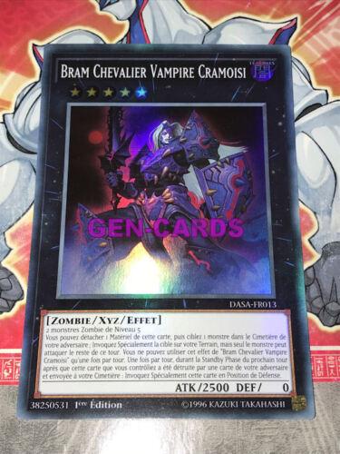 Carte YU GI OH BRAM CHEVALIER VAMPIRE CRAMOISI DASA-FR013