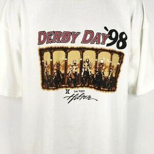Kentucky-Derby-Day-T-Shirt-Vintage-90s-1998-Las-Vegas-Hilton-Casino-Size-2XL