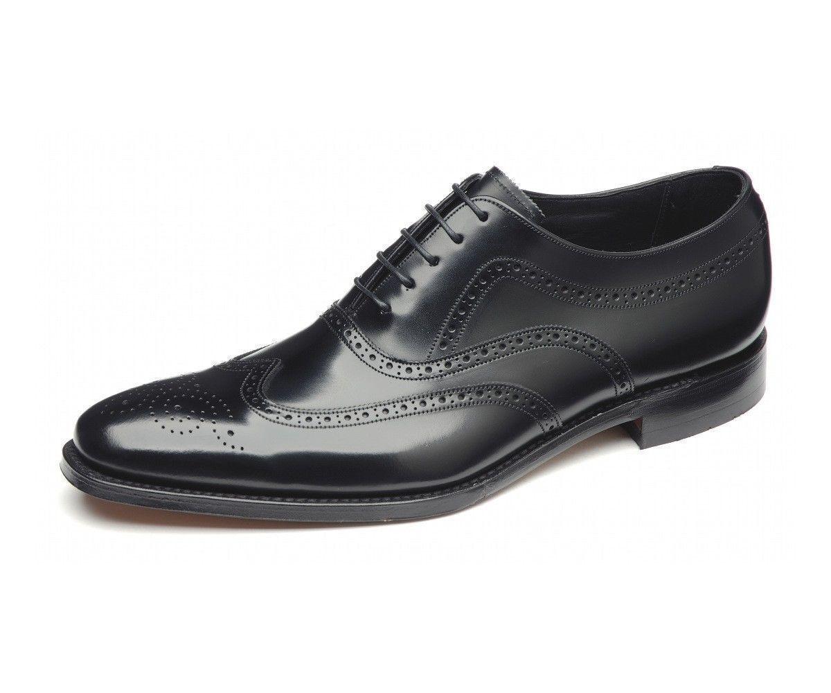 Loake 'Jones' Men's Black Polished Leather Brogues F Fit.