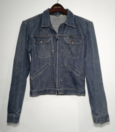 Vintage Wrangler Zipper Denim Jacket 24MJZ~1960s~s