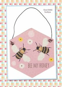 Sass-amp-Belle-Sweet-Little-Pastel-Pink-Wall-Sign-034-Bee-My-Honey-034