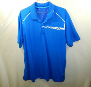 ADIDAS-Climachill-Short-Sleeve-Polo-Golf-Blue-Shirt-Mens-Size-2XL-XXL