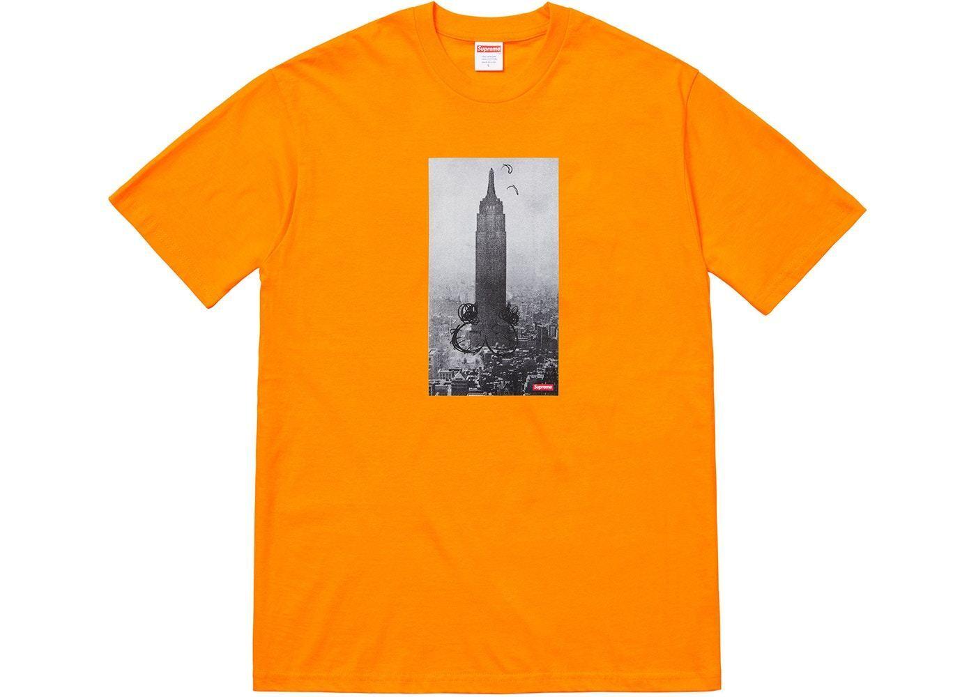 Supreme Mike Kelley The Empire State Building Tee orange FW18 Size Medium