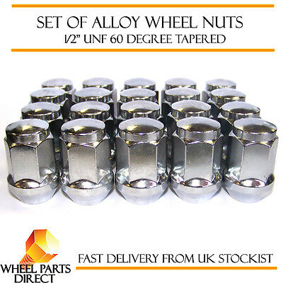 """1//2/"""" UNF Tapered for TVR Tuscan 1969-2006 Alloy Wheel Nuts Black 16"""