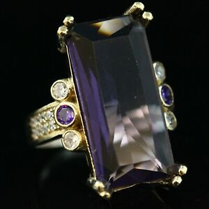 Amethyst-Ladies-Ring-925-Sterling-Silver-Handmade-Authentic-Turkish-Size-6-10
