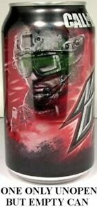 Mountain-Dew-Call-of-Duty-Game-Fuel-Citrus-Cherry-EMPTY-UNOPEN-12oz-Can-USA-2011