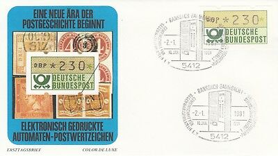 Wertstufe 2,30 Dm 1 Fdc Humorvoll Deutschland Automatenmarke Nr