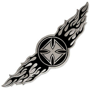Image Is Loading VEGASBEE LARGE WINGED IRON CROSS WINGS EMBROIDERED PATCH