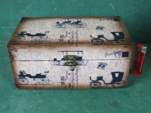 Aufbewahrungsbox Schmuckkasten Kassette Holzkasten Box Oldtimer Antik Stil