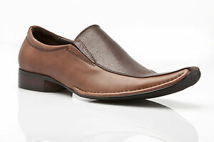 MENS-BROWN-DRESS-COFFEE-LEATHER-SLIP-ON-FORMAL-CASUAL-SHOES-WEDDING-LAWRENCE