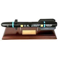 """US Army Lockheed Martin AGM-114 Hellfire Missile 12"""" Desk Display Wood MC Model"""