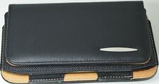 Premium Leather Belt Pouch Magnetic Flip Cover For Nokia E7 Blk 4""