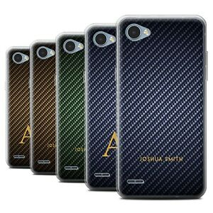 Personalised-Carbon-Fibre-Effect-Case-for-LG-Q6-M700-Initial-Name-Gel-TPU-Cover