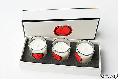 Parks 3 Glasses Candle Pomegranate Aromatherapy Votive Gift Scented Natural Wax