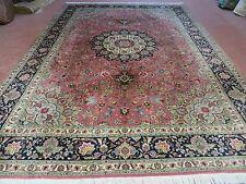 8' X 12' Vintage Hand Made Persian Fine Tabriz Wool Rug Silk Accent Carpet Nice