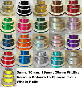 Reel-of-Quality-3mm-10mm-16mm-25mm-38mm-50mm-Double-Sided-Satin-Ribbon-Roll