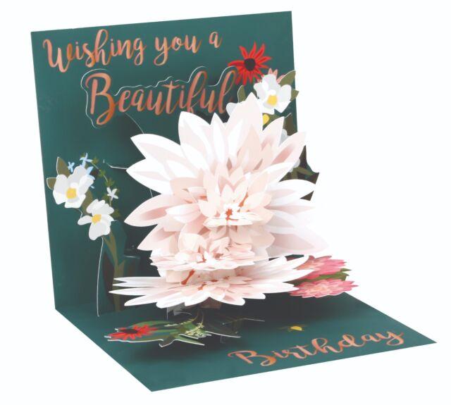 Happy Birthday Pop Up Card Beautiful Birthday Keepsake Floral Design Flowers