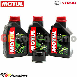 KIT-TAGLIANDO-OLIO-FILTRO-MOTUL-5000-10W40-3LT-KYMCO-500-XCITING-2009