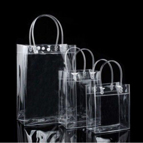 Snap Environmentally Friendly Tote Bags Transparent PVC Plastic Bag Handbag