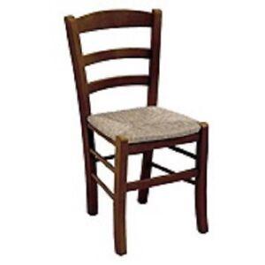 Sedie In Legno Arte Povera.Sedia Sedie Rustica Legno Arte Povera Casa Ristorante Cucina Noce