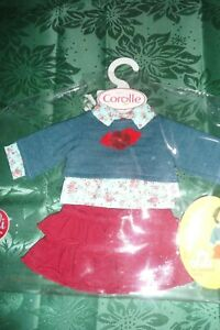 COROLLE-2005-juste-LILLY-42-CM-JUPE-ROUGE-PULL-BLEU-Poupee-Ancienne-SNF-etc