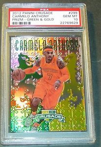 2012-CARMELO-ANTHONY-299-PANINI-CRUSADE-GREEN-PRIZM-REFRACTOR-25-PSA-10-POP-1
