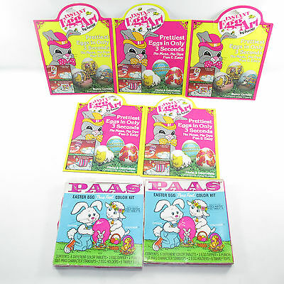 Vintage Easter Egg Art Decorating Kits 1980's Paas Sun Hill