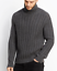 NWT-VINCE-SzM-CABLE-KNIT-TURTLENECK-PULLOVER-SWEATER-DARK-HEATERGREY 縮圖 1