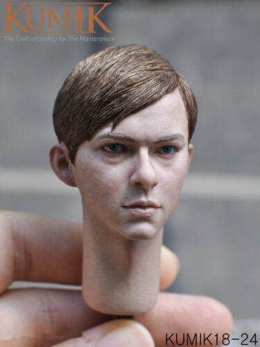 1//6 The Little Boy Head Model KUMIK KM18-24 Male Head Carving For Collection
