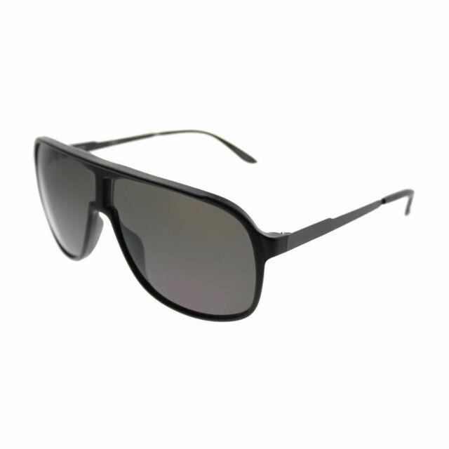 d76167734b9 Carrera New Safari S GTN Matte Black Plastic Aviator Sunglasses Grey Lens  62mm