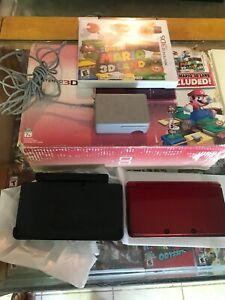 Nintendo-3DS-Super-Mario-3D-Land-Flame-Red-Handheld-System-In-Box-No-Game