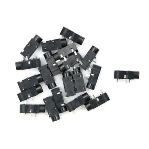 20Pcs-Pj320B-3-5Mm-Female-Audio-Connector-3-Pin-Smt-Smd-Stereo-Headphone-Jack-WA