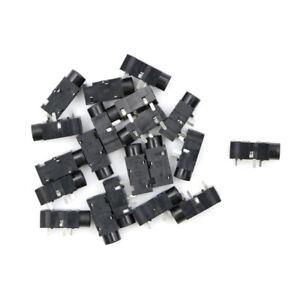 20Pcs-PJ320B-3-5MM-Female-Audio-Connector-3-Pin-SMT-SMD-Stereo-Headphone-Jack-IN