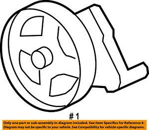 ford oem 05 07 f 250 super duty power steering pump 5c3z3a674brm ebay 1960 Ford Steering Wheel Controls On image is loading ford oem 05 07 f 250 super duty