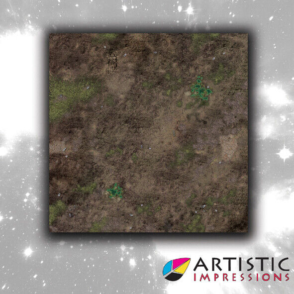 Vinyl 4x4' Decayed Earth Gaming Mat - Ideal for Warhammer