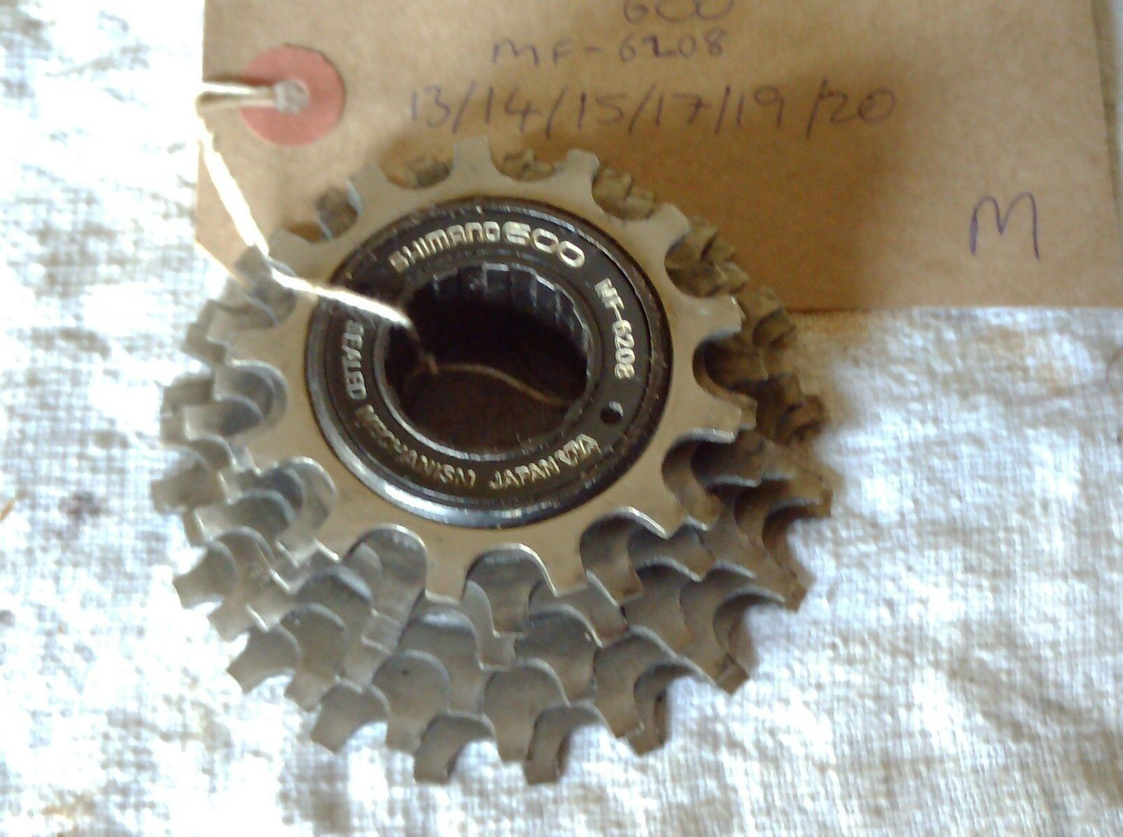SHIMANO  600EX 6 SPEED FREEWHEEL, 13-20t , MF-6208  a lot of concessions