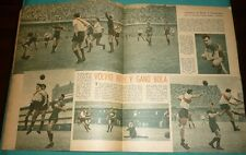 MARIO BOYE BOCA JUNIORS Vs RIVER PLATE Rare Magazine Argentina 1947