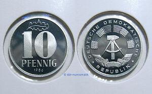 DDR-10-Pfennig-PP-Polierte-Platte-1982-1989-Jahr-zur-Auswahl